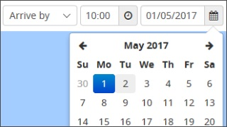 Image of date picker box