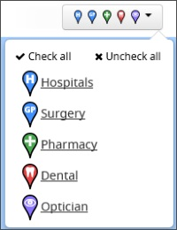 Image of facility picker